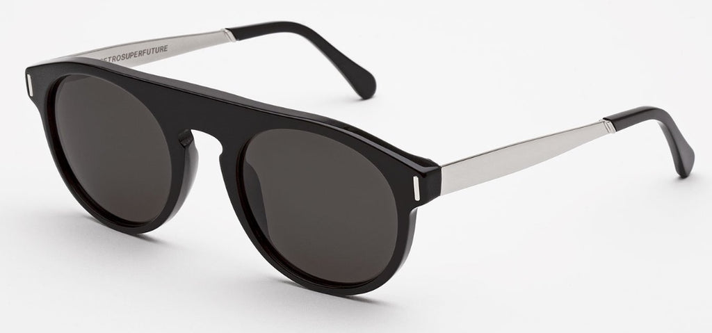 RetroSuperFuture Sunglasses Racer Francis Black Silver