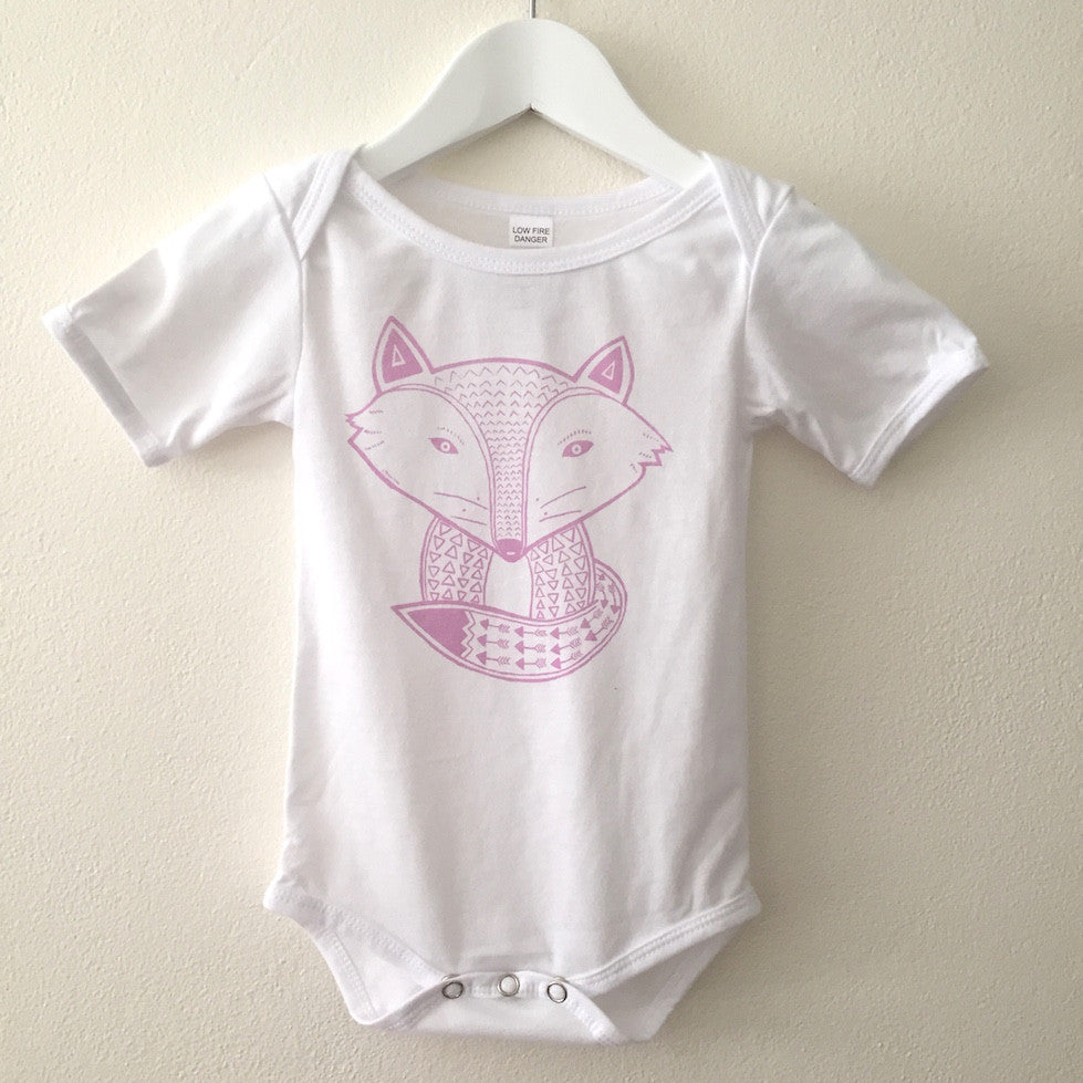 Sleepy Fox Onesie - White