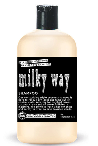 Sudsatorium Milky Way Shampoo ON SALE! Originally 21.95 (250ml) & 32.95 (500ml)