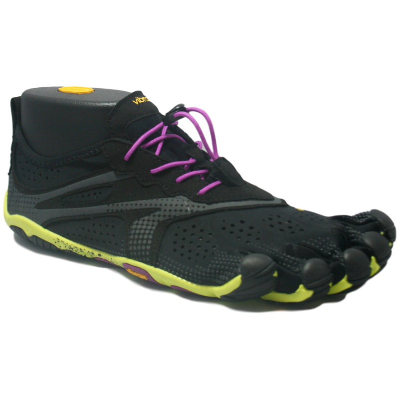 Vibram Five Fingers V-Run Ladies Black Yellow Purple