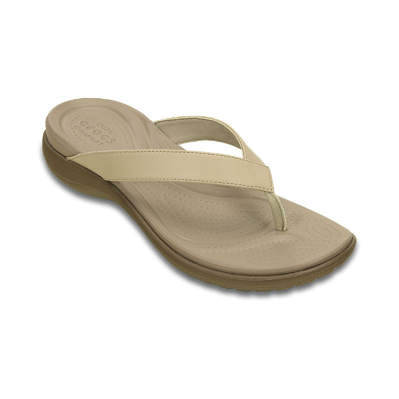Crocs Capri V Flip Chai-Walnut - Womens