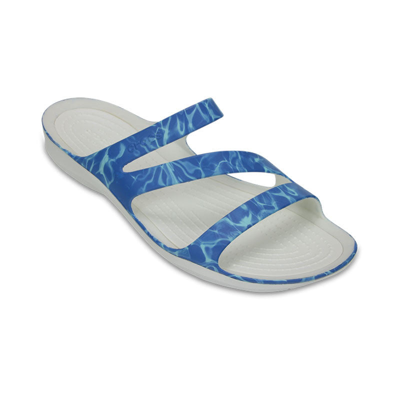 Crocs Swiftwater Graphic Sandal Water-White