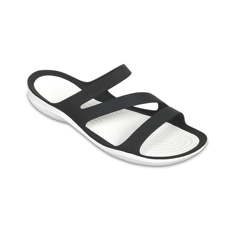Crocs Swiftwater Sandal Womens Black-White