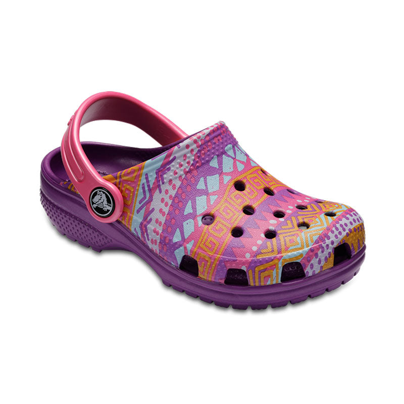 e639e1281785cd Crocs Kids Cayman Classic Graphic Amethyst