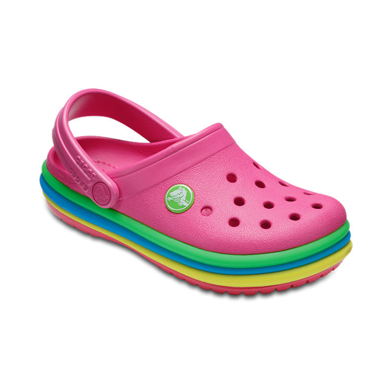 Crocs Kids Rainbow Band Paradise Pink