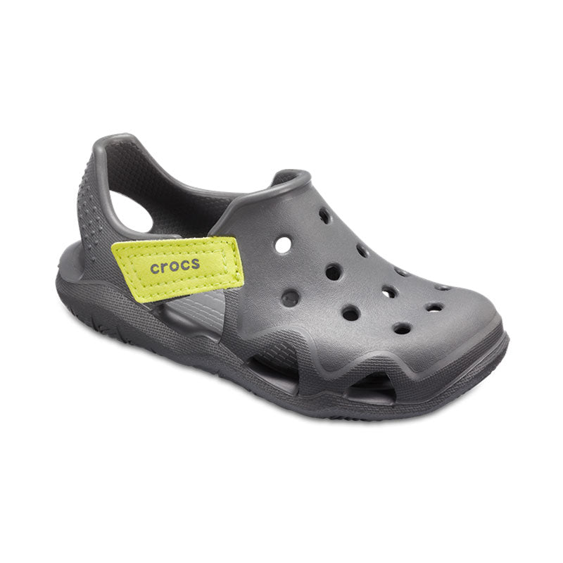Crocs Kids Swiftwater  Wave Slate Grey Tennis Ball Green