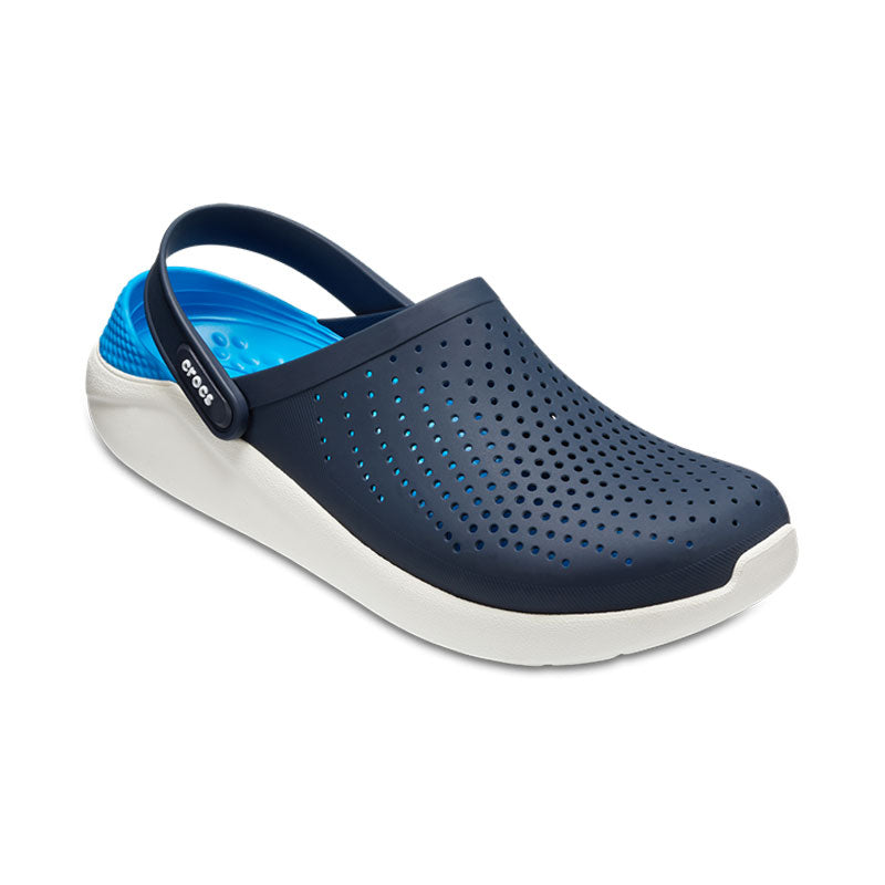 Crocs Mens Literide Clog Navy white