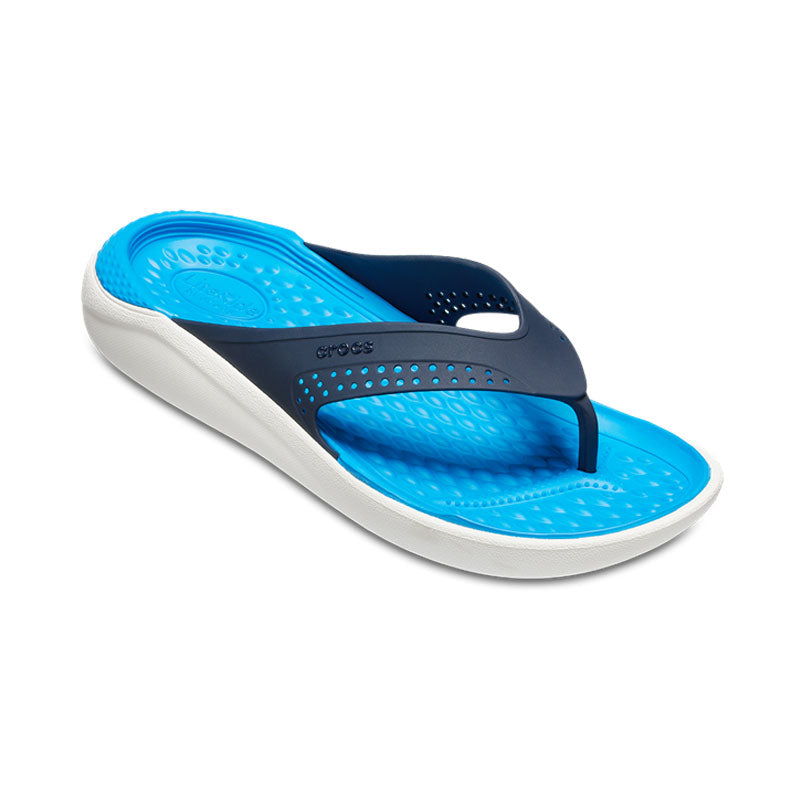 Crocs Mens LiteRide Flip Navy White