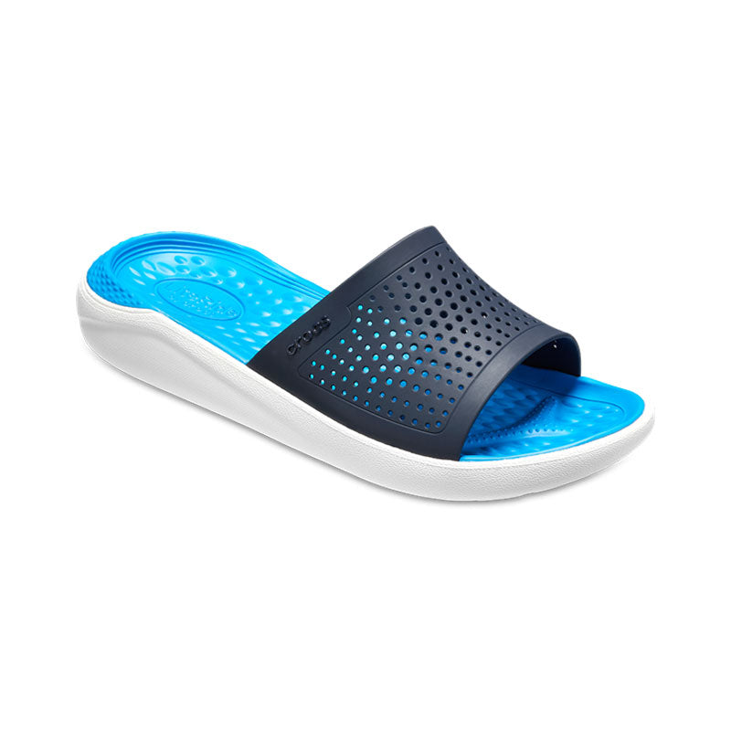 Crocs Mens LiteRide Flip Slide Navy White
