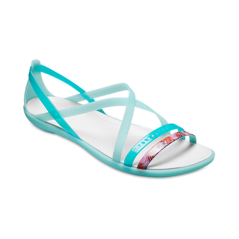 Crocs Womens Isabella Cut Strappy Sandal New Mint Oyster