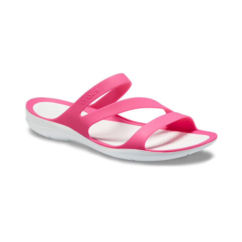 Crocs Womens Swiftwater Sandal Paradise Pink White