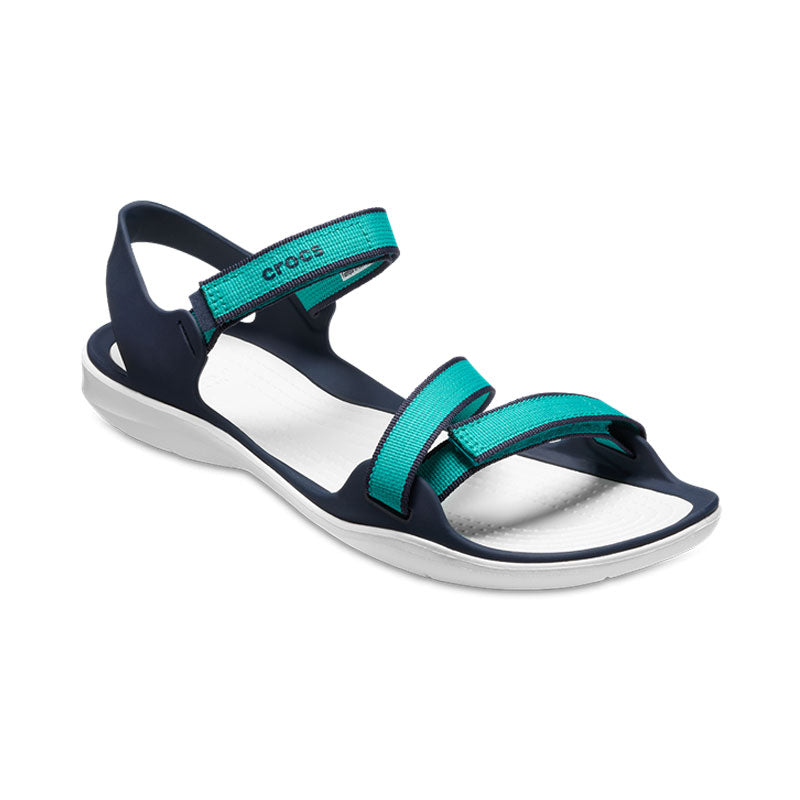 Crocs Womens Webbing Sandal Tropical Teal
