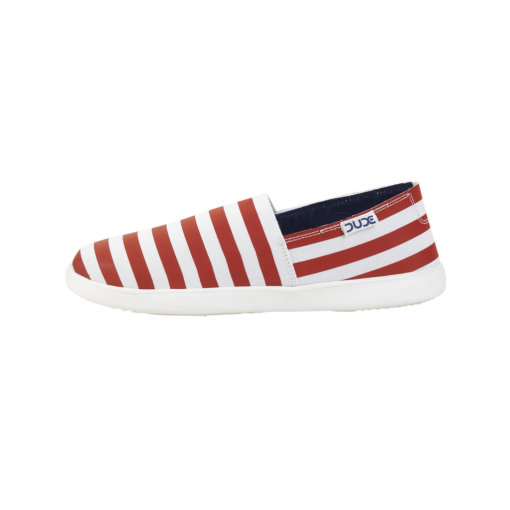 Hey Dude Capri E-Bands Stretch Stripes Red