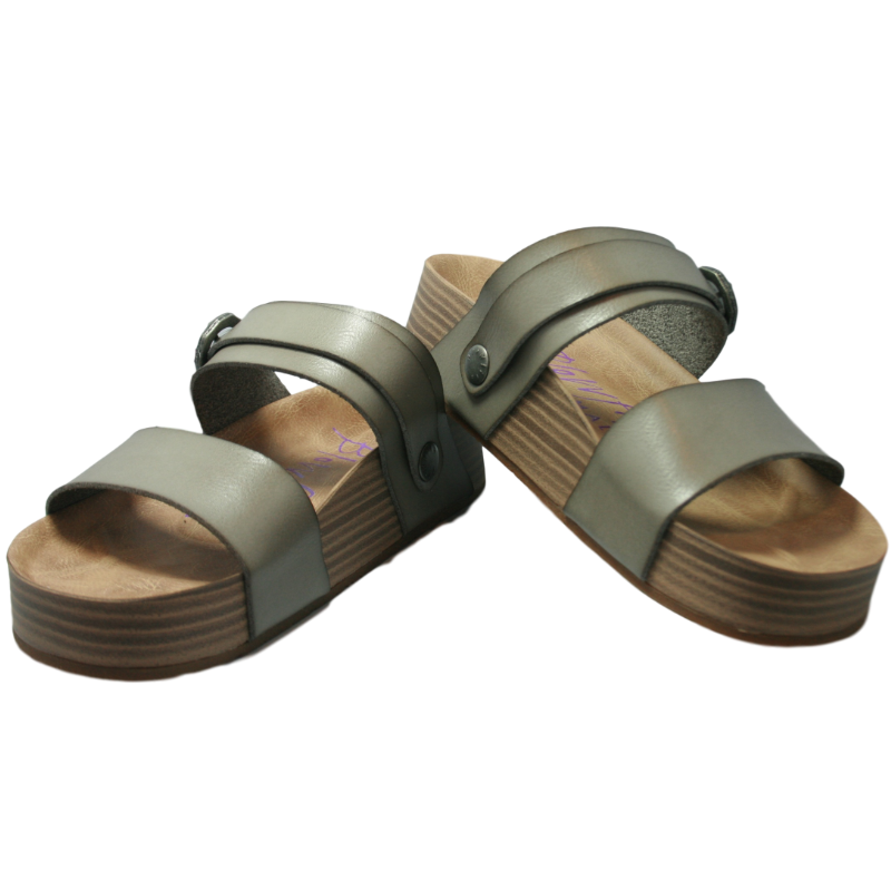 Marge Fog Grey Dyecut Blowfish Sandals