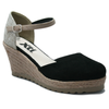 XTI Black Wedge Heel Sandal