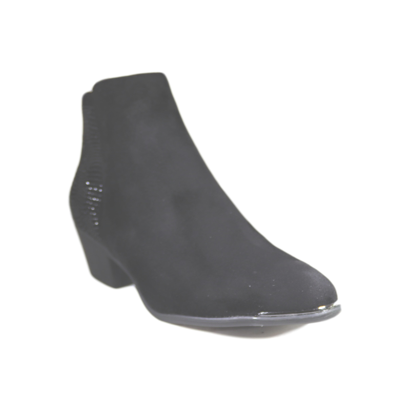 Xti Black Microfiber Ankle Boot