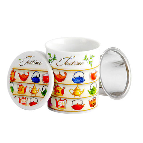 LizzyKate ~ Teapot mug with infuser