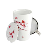 Cherry Blossom Mug with an Infuser and 2 oz Mango Green Tea