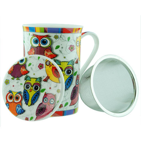 Owl Mug with Infuser
