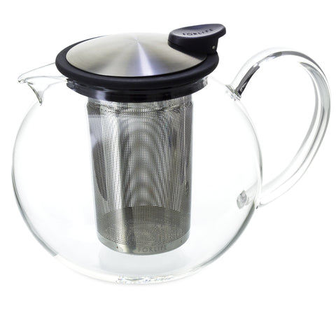 Glass Teapot with Basket Infuser (38 Oz)