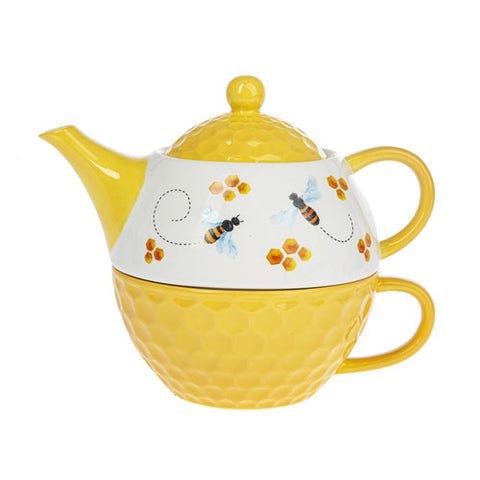 Bee Tea-for-One Teapot and Mug