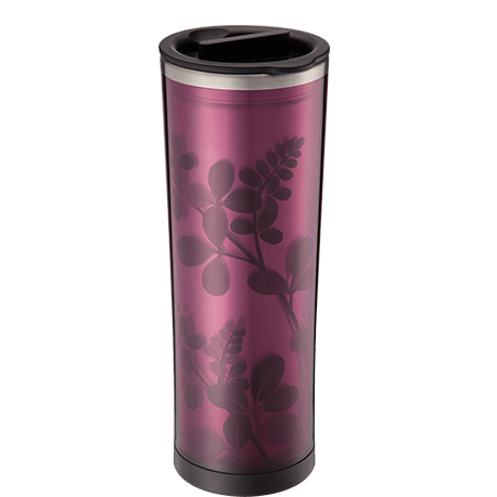 Flower-pattern, Double Wall, Stainless Steel Tea Tumbler (16 oz.)