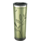 Leaf-pattern, Double Wall, Stainless Steel Tea Tumbler (16 oz.)