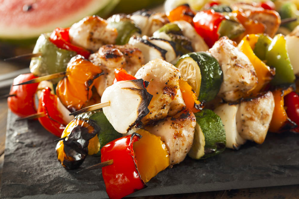 Greek Style Chicken Skewers Recipe