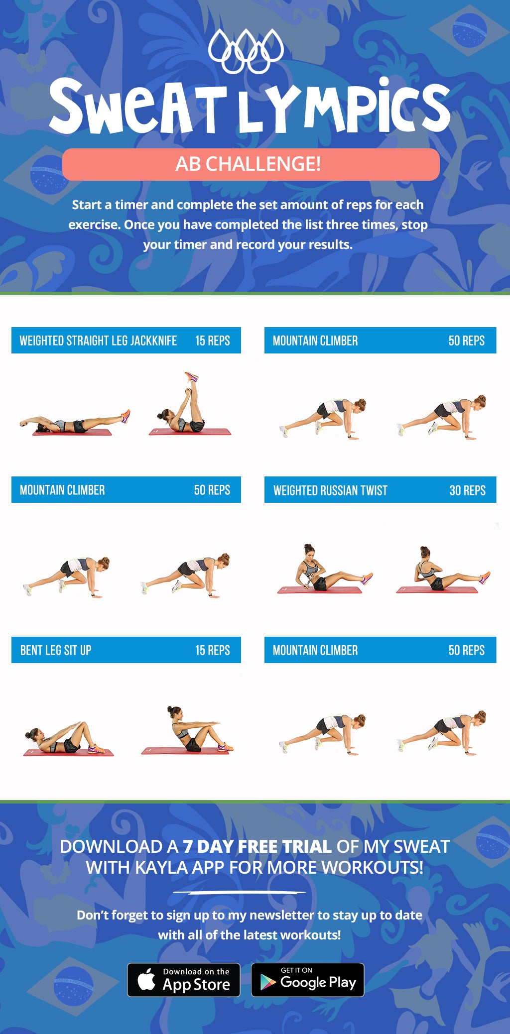 How to activate your glutes before a workout kayla itsines sweatlympics ab challenge fandeluxe Gallery