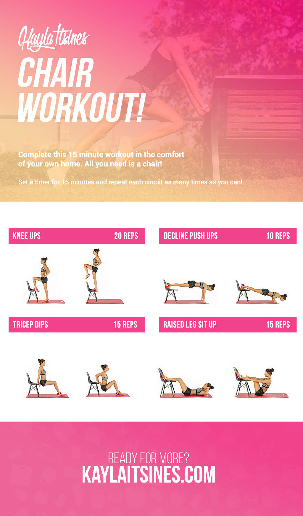 Chair Workout - Kayla Itsines
