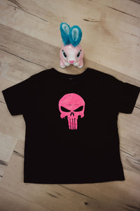 pink PUNISHER tee