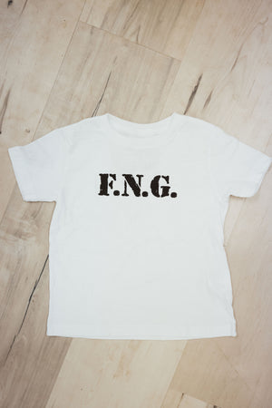 FNG white tee