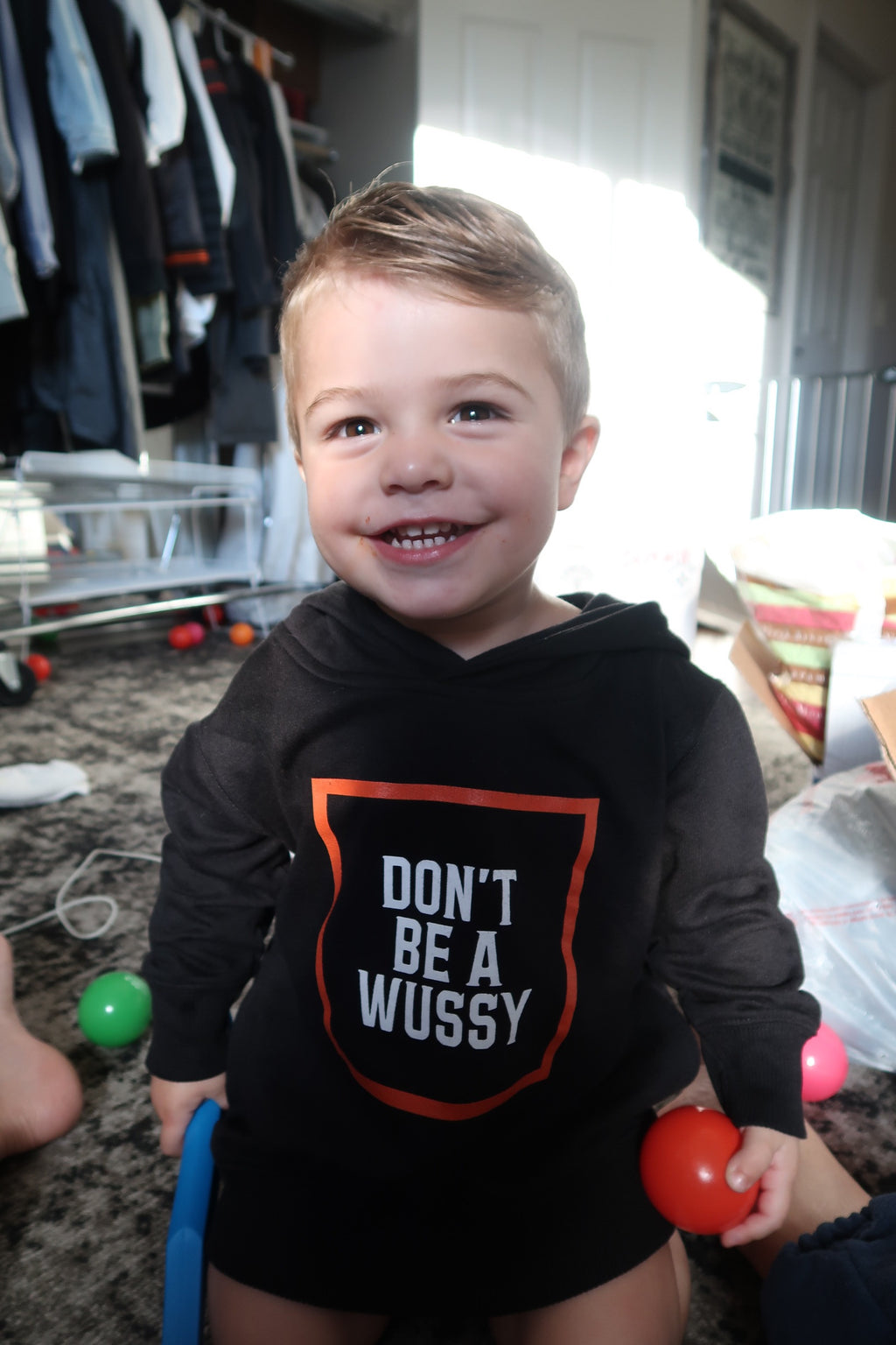 DONT BE A WUSSY toddler hoodie