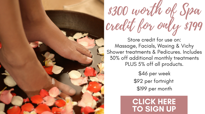 day spa membership massage facial pedicure camden narellan