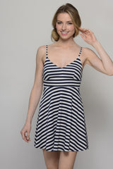 Striping Beauty Navy and White Dress - Dear Havana