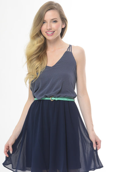 82nd Street Navy Dress