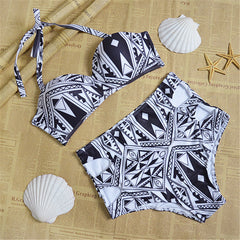 Cruz Bay Black and White Bikini - Dear Havana