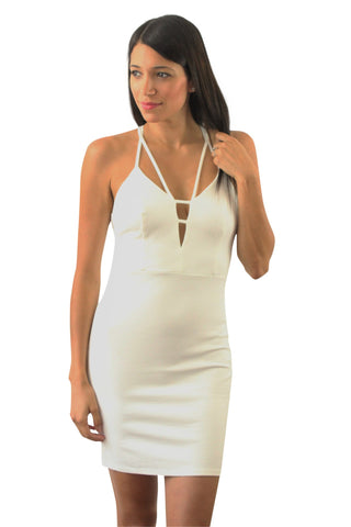 White bodycon sexy dress