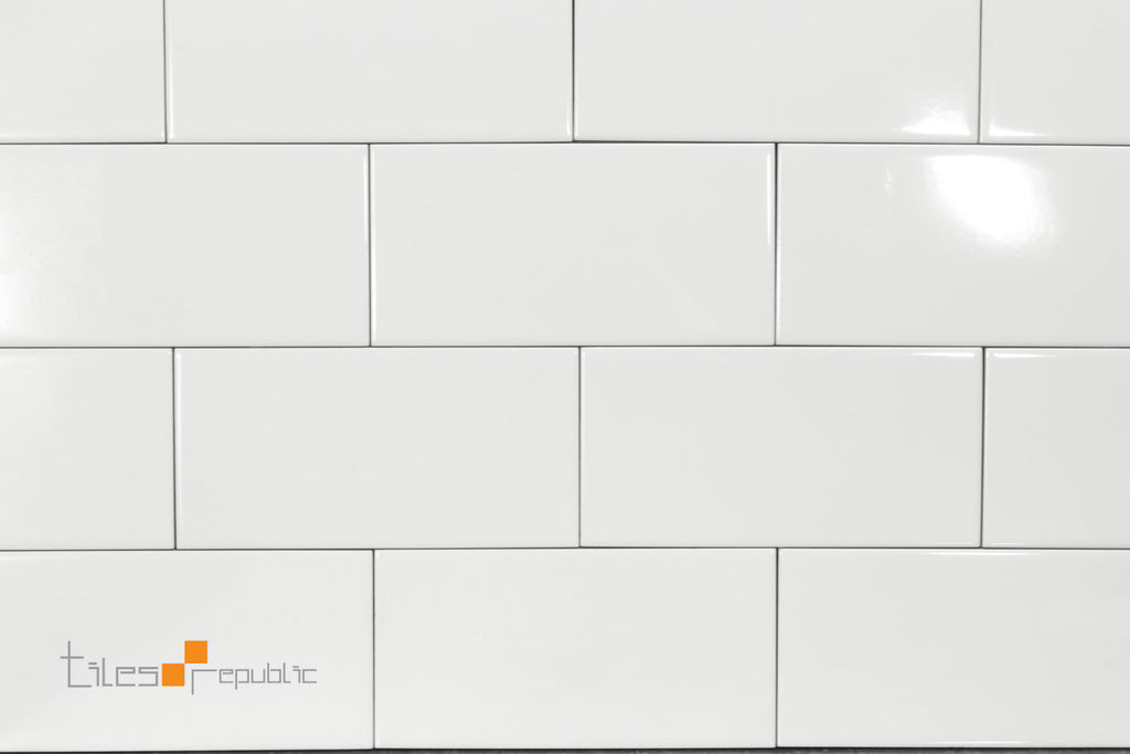 White Gloss 100x200 Subway Wall