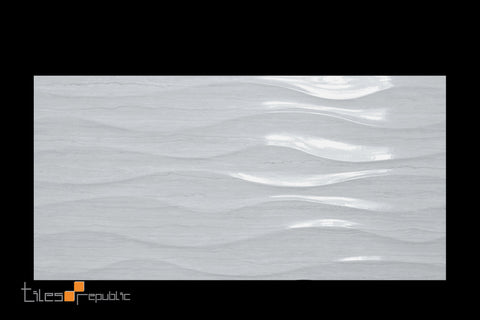 Fascino Wave Grey Gloss 300x600