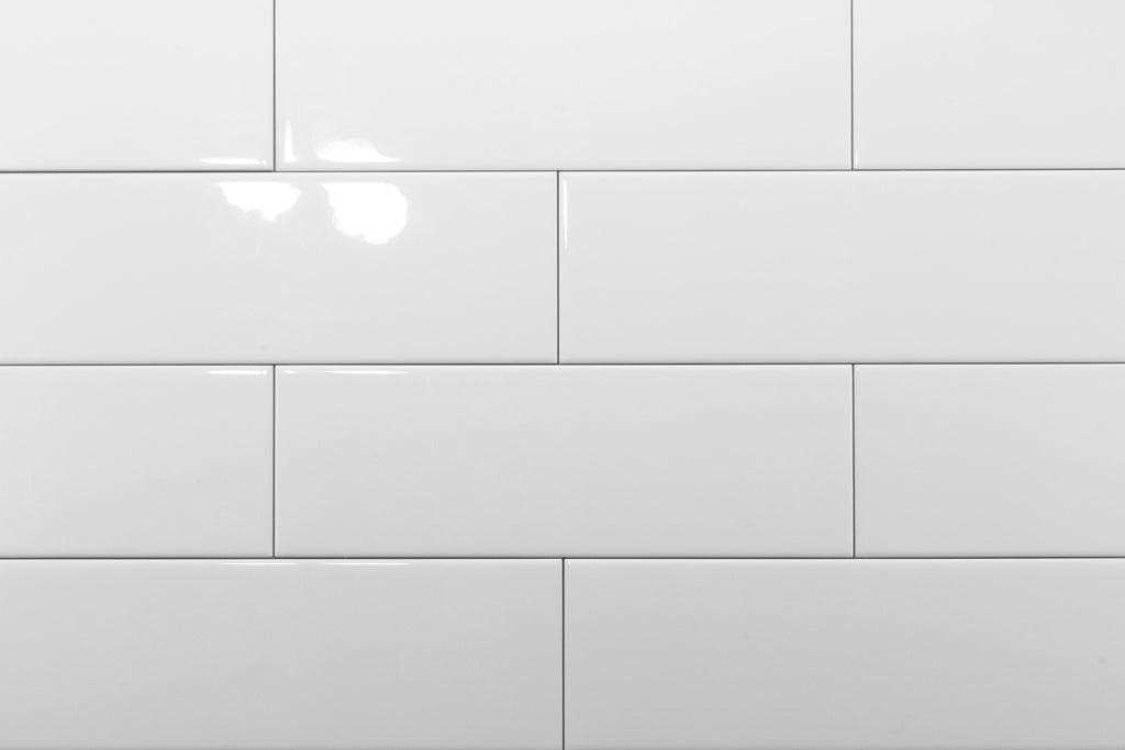White Gloss 100x300 Subway Wall