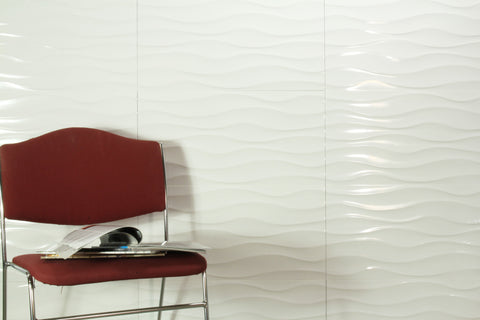 Urban Wave White Gloss 300x600