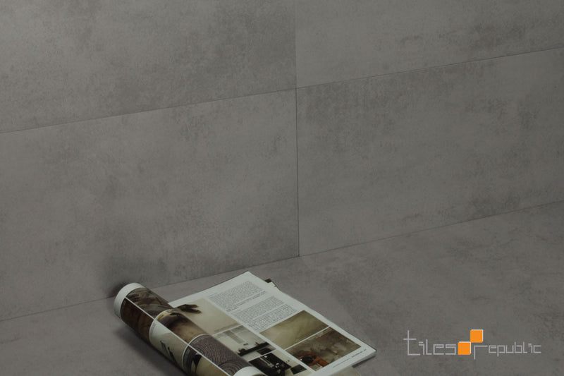 Mist Grey Concrete Look Tile Matt 600x600