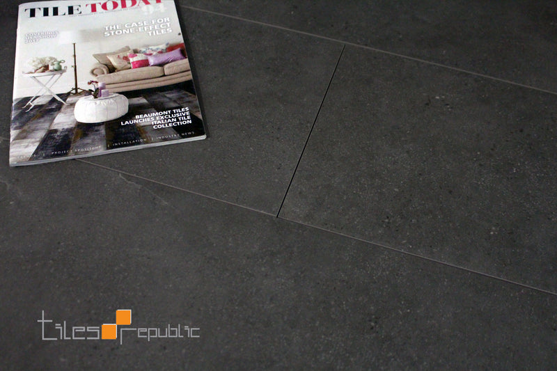 Mineral Smoke Outdoor Concrete Look Tile 300x600
