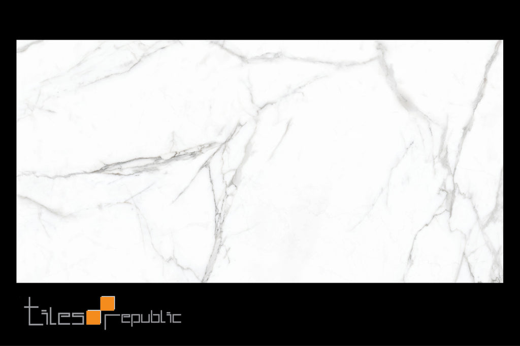 Carrara Marble White Gloss 900x1800 Thin Panel