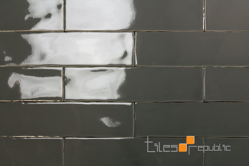 Mano Steel Gloss Handmade-Look 75x300 Subway Wall