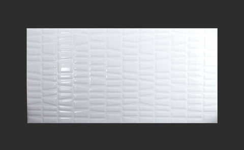 Urban Irregular White Gloss 300x600