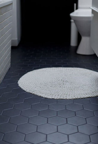 Eco Stone Hexagon Black Matt 200x230