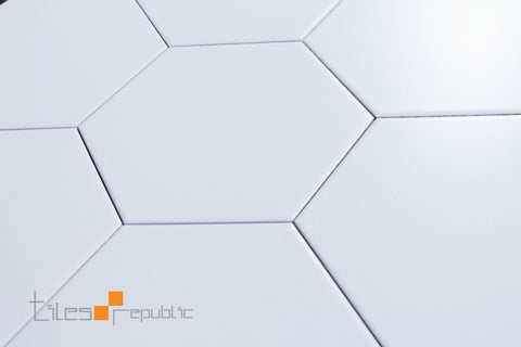Eco Stone Hexagon White Matt 200x230