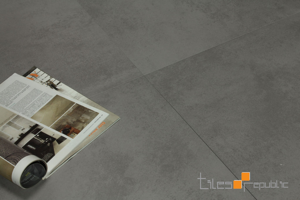 Mist Grey Concrete Look Tile Lappato 600x600